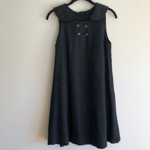 TULLE ANTHROPOLOGIE Elegant Collared Dress Black